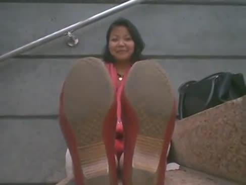 Chinesische nylonfüße und reden